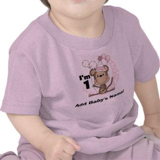 Mono personalizado del chica en cumpleaños del gor camiseta