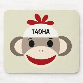 Mono personalizado Mousepad del calcetín para los  Alfombrilla De Raton