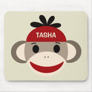 Mono personalizado Mousepad del calcetín para los Tapetes De Ratón