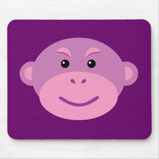 Mono púrpura alfombrillas de raton