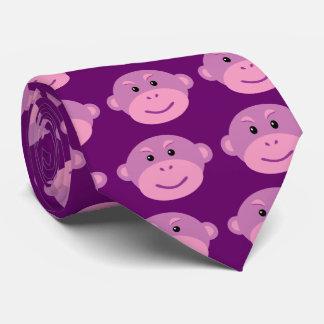 Mono púrpura corbata