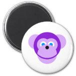 mono púrpura imanes para frigoríficos
