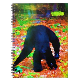mono que camina lejos blots.jpg colorido libros de apuntes