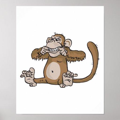 mono que hace la cara impresiones