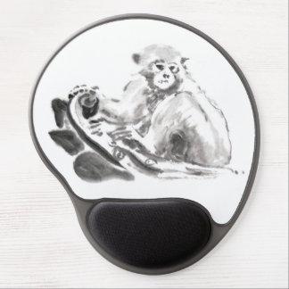 Mono que pinta el gel chino Mousepad del Año Nuevo Alfombrillas De Ratón Con Gel