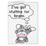 Mono que rellena para los cerebros tarjeta