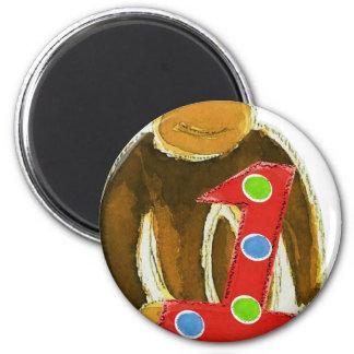 Mono que sostiene uno imán redondo 5 cm