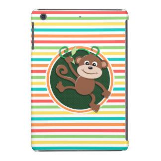 Mono Rayas brillantes del arco iris Funda De iPad Mini