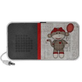 Mono retro del calcetín iPod altavoces