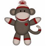 Mono retro del calcetín imán fotoescultura