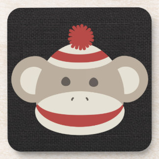Mono retro del calcetín posavasos de bebidas