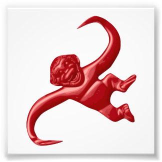 Mono retro del juguete de la pesadilla fotografías