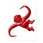 Mono retro del juguete de la pesadilla tarjeta postal