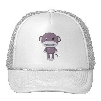Mono retro púrpura del calcetín gorros