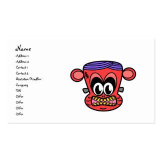 Mono rojo de Frankenstein Tarjetas De Visita