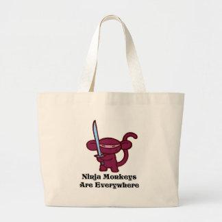 Mono rojo de Ninja con la espada Bolsa Lienzo