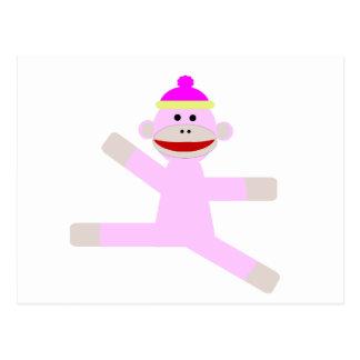 Mono rosado postales