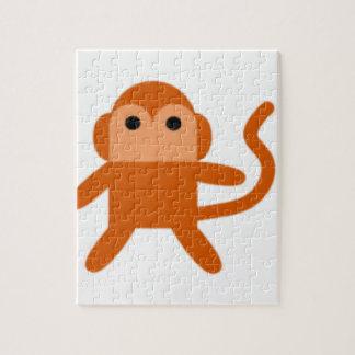 Mono simple rompecabeza con fotos