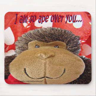 Mono sobre usted mousepad alfombrillas de raton