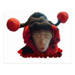 Mono soñoliento de la mariquita tarjeta postal