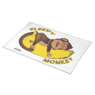 Mono soñoliento mantel individual
