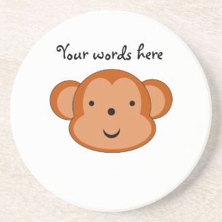 Mono sonriente posavasos de arenisca