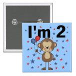 Mono soy 2 camisetas y regalos pin