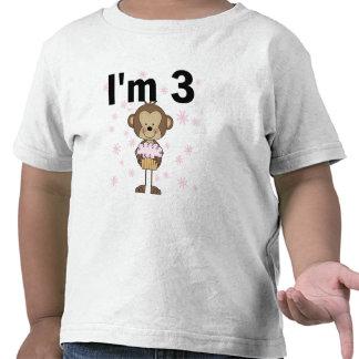 Mono soy 3 camisetas y regalos del cumpleaños