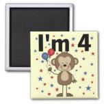 Mono soy 4 camisetas y regalos imanes de nevera