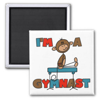 Mono soy camisetas y regalos de un gimnasta imán de frigorífico