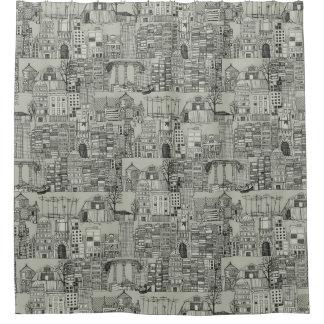 mono toile dystopian cortina de baño