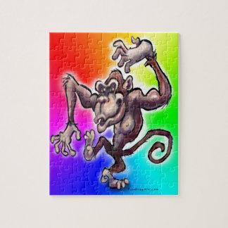 Mono tonto rompecabeza con fotos