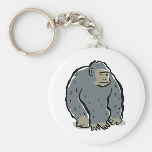 mono triste llavero redondo tipo pin