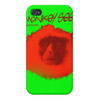 Mono Unblemished 3 del caso del iphone iPhone 4 Fundas