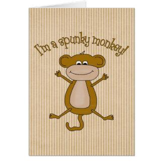 Mono valiente tarjeta de felicitación