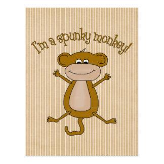 Mono valiente tarjetas postales