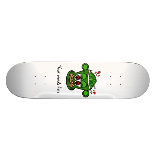 Mono verde del zombi monopatin personalizado