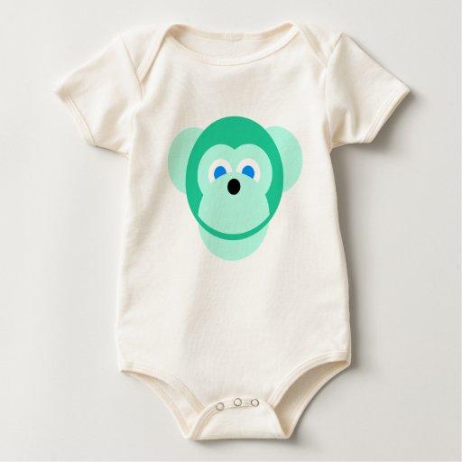 mono verde trajes de bebé