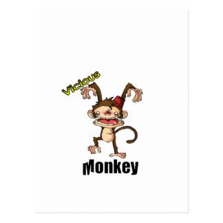 Mono vicioso postales