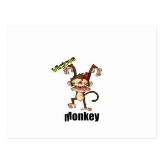 Mono vicioso tarjeta postal