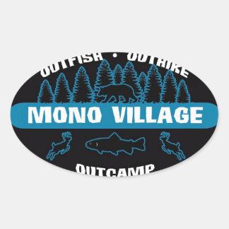 Mono Village Survivor Sticker Blue