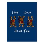 Mono vivo del amor postal