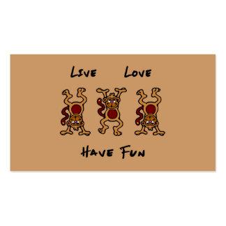Mono vivo del amor plantilla de tarjeta personal