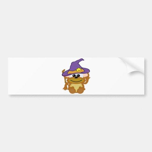 mono witchy de los goofkins etiqueta de parachoque