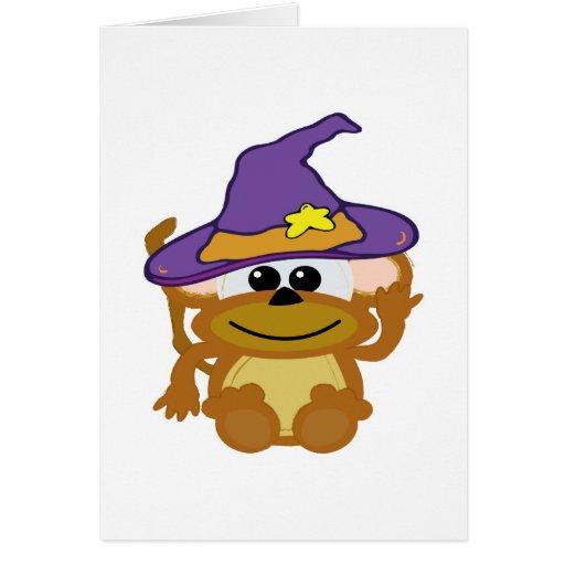 mono witchy de los goofkins tarjeta de felicitación