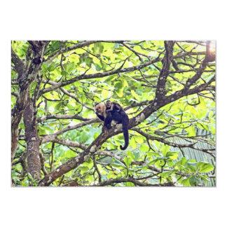 """Mono y bebé de la madre en selva invitación 5"""" x 7"""""""