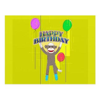 Mono y los globos tarjetas postales