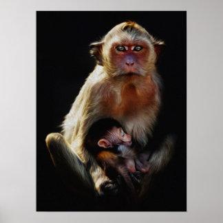 Mono y niño poster