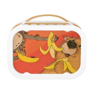 Mono y oso/caja del almuerzo de Yubo