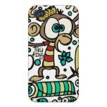 Mono y pájaros locos iPhone 4/4S fundas